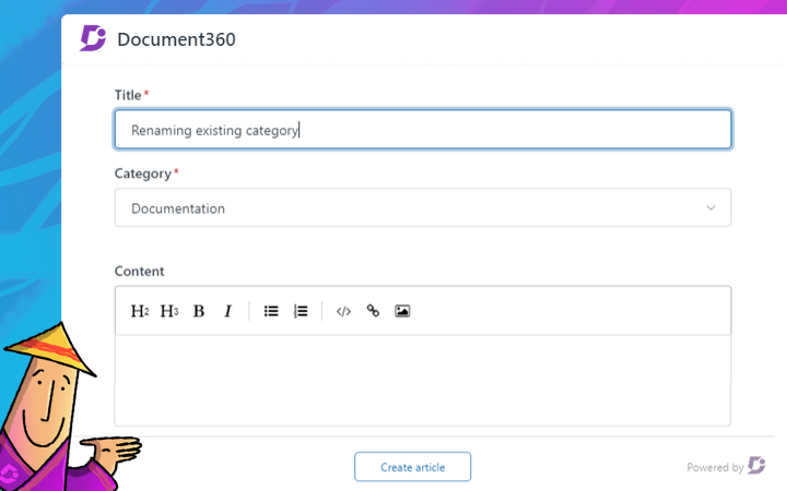 Document360  Create Article